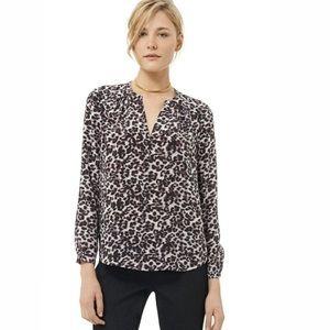{rebecca taylor} silk lynx print blouse